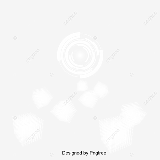 Simple Spot Background Design White Circle Light Technology Png