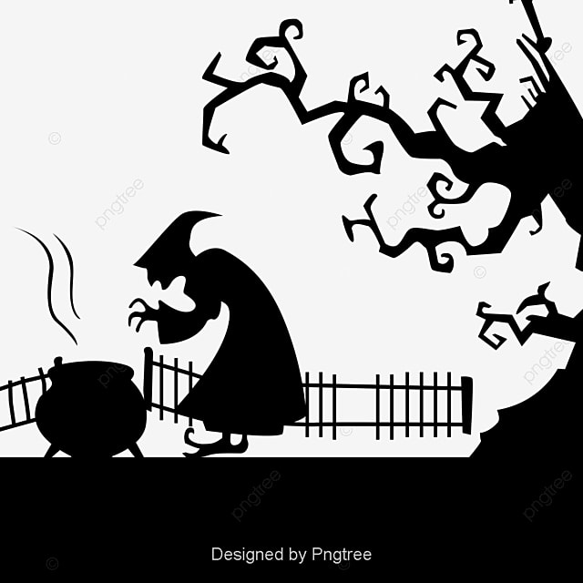 Simples Elementos Decorativos De Halloween Cartoon Silhouette Simple ...