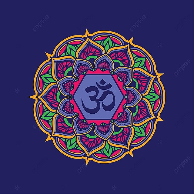 Decorative Mandala Pattern With Om Symbol Fit For Print Poster