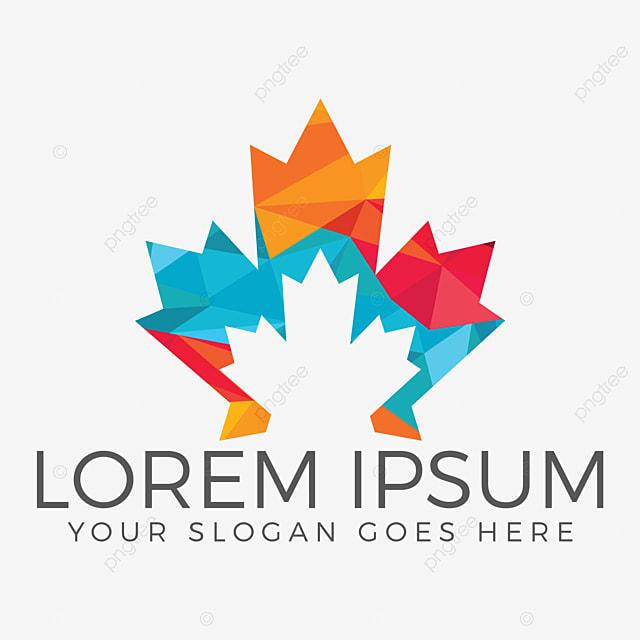 Maple Leaf Logo Design Canada Symbol Logo Abstract Art Autumn