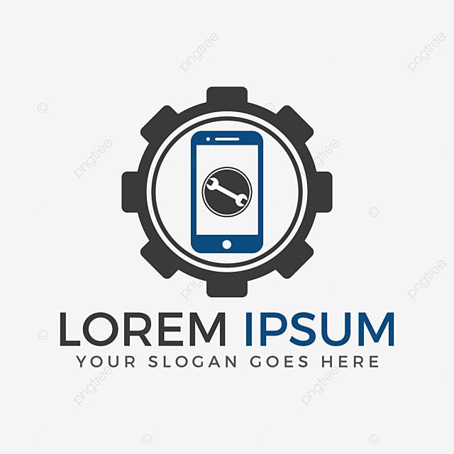 mobile phone repairing logo design   app  application