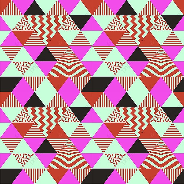 Seamless Pattern Background Abstracto Arte Geométrico De Memphis