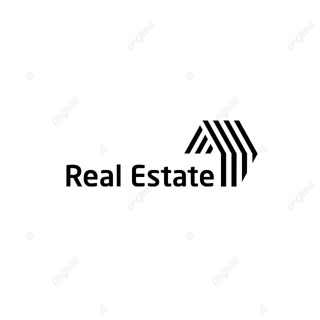 real estate logo background material design real estate logo