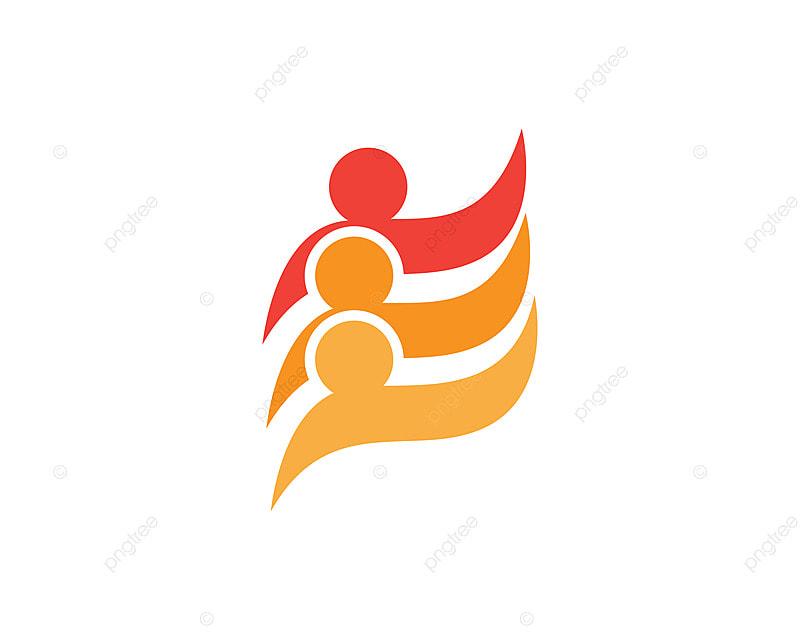 mod u00e8le de soins et les symboles communautaires logo