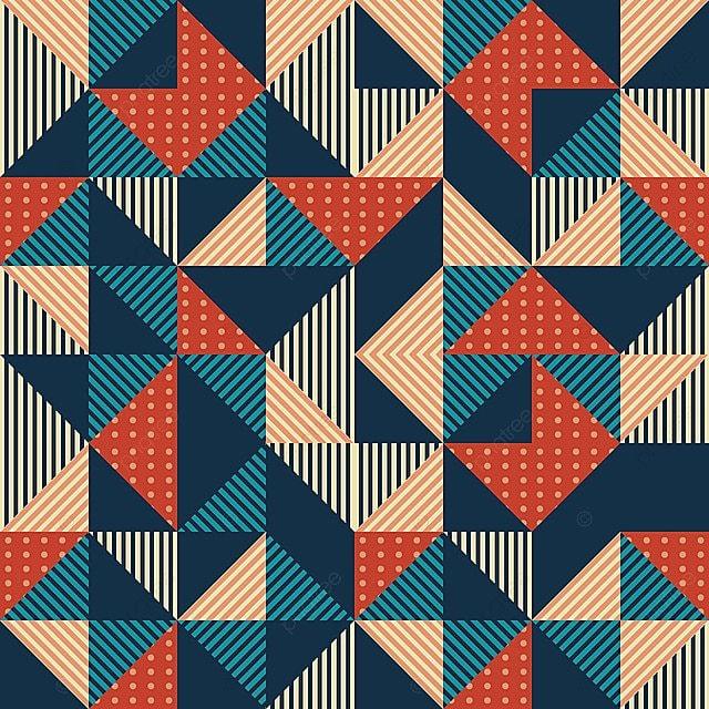 Triángulo De Geométrica Abstracta Con Colores Vintage Retro Memphis