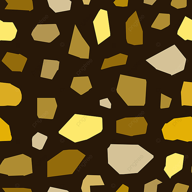 Seamless Terrazzo Texture Pattern Golden Vintage Colors Abstract Background PNG And Vector