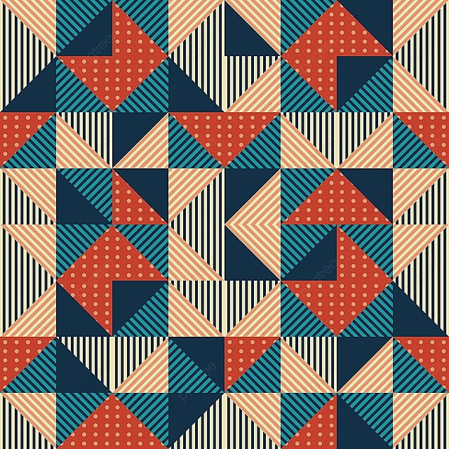 Trendy Pattern Background With Abstract Triangle Memphis 90s