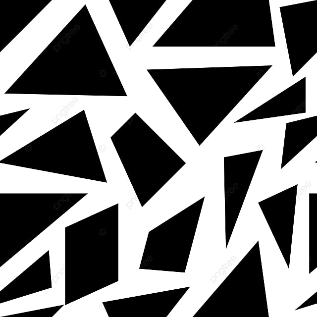Seamless Crockery Geometric Pattern Black And White Abstract