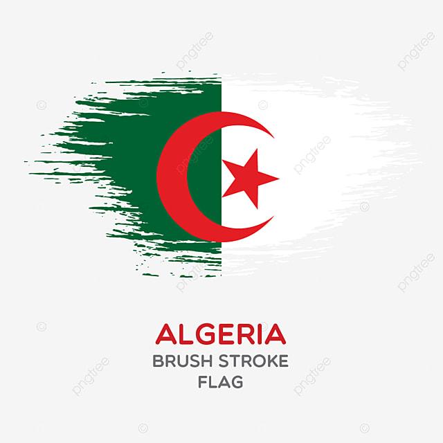 l alg u00e9rie coup de pinceau drapeau coup de pinceau de