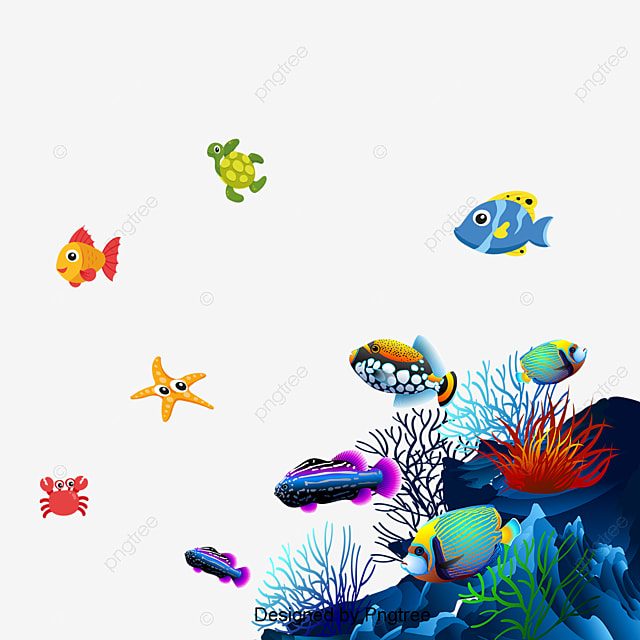 cartoon handpainted underwater world design cartoon