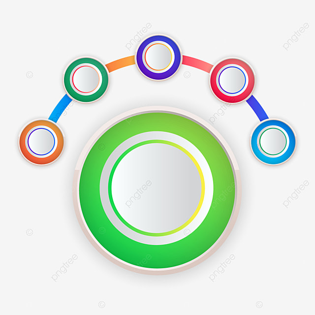 circle process infographic template with colorful shapes