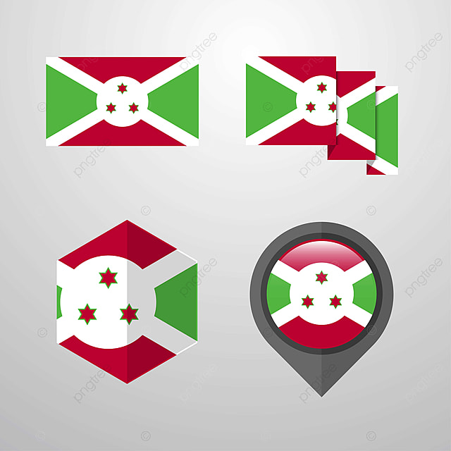 Burundi Flag Design Set Vector Flag Icons 1 1st Png And Vector With Transparent Background For Free Download