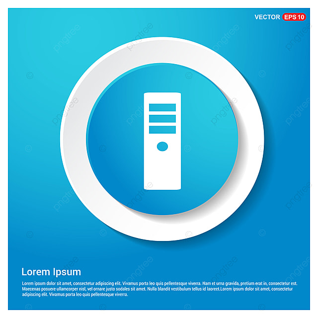 Cpu Tower Icon Black Box Button Png And Vector With Transparent Background For Free Download