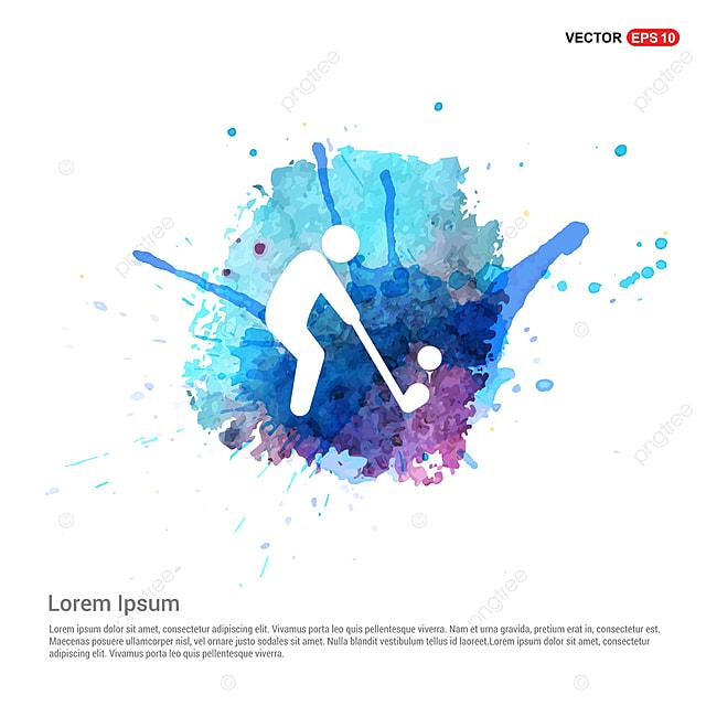 le golf joueur ic u00f4ne aquarelle contexte actif activit u00e9