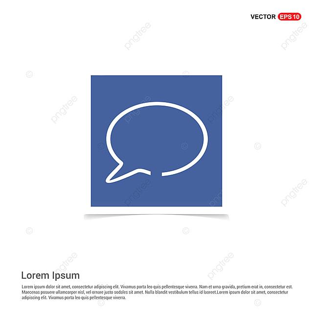 Speech Bubble Icon - Blue Photo Frame, App, Application, Background ...