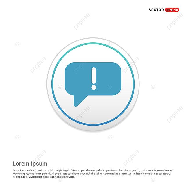 Speech Bubble Icon White Circle Button, App, Application