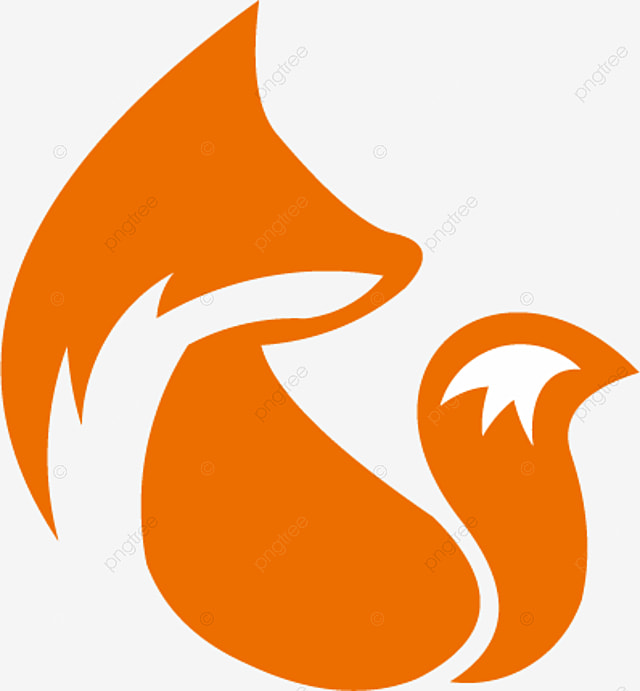 Elegant Flame Unique Animal Fox Logo Vector Abstract Art PNG And