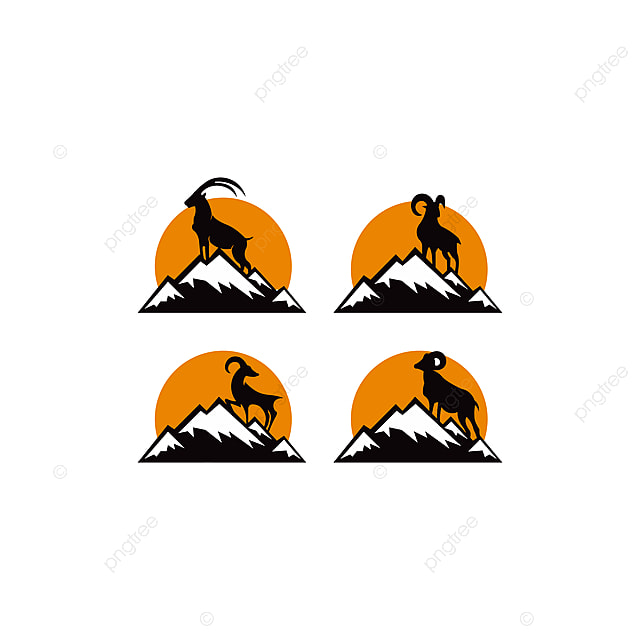 Image of: Nightingale Silhouette Of Mountain Mammal Goat Animal Animal Art Element Png Pngtree Silhouette Of Mountain Mammal Goat Animal Animal Art