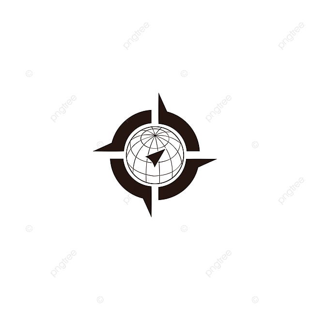 Vector Illustration Of World Map With Wind Rose, Navigation