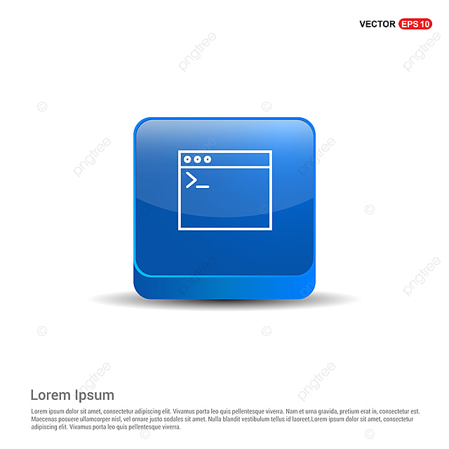 Programming Code Icon - 3d Blue Button, App, Arrow, Browser PNG and