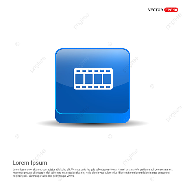 Film Strip Icon 3d Blue Button 35 35mm Background Png And