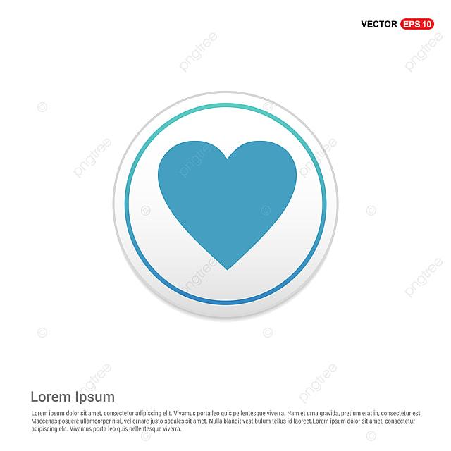 Amor Corazon Icono Circulo Blanco Boton App Aplicacion Color Png Y