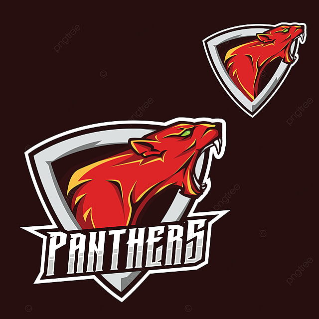 パンサーズロゴ ジャガー プーマ パンサーesportゲームマスコットロゴ
