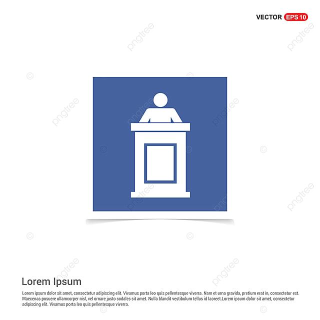 Speaker At Rostrum Icon - Blue Photo Frame, App, Application ...