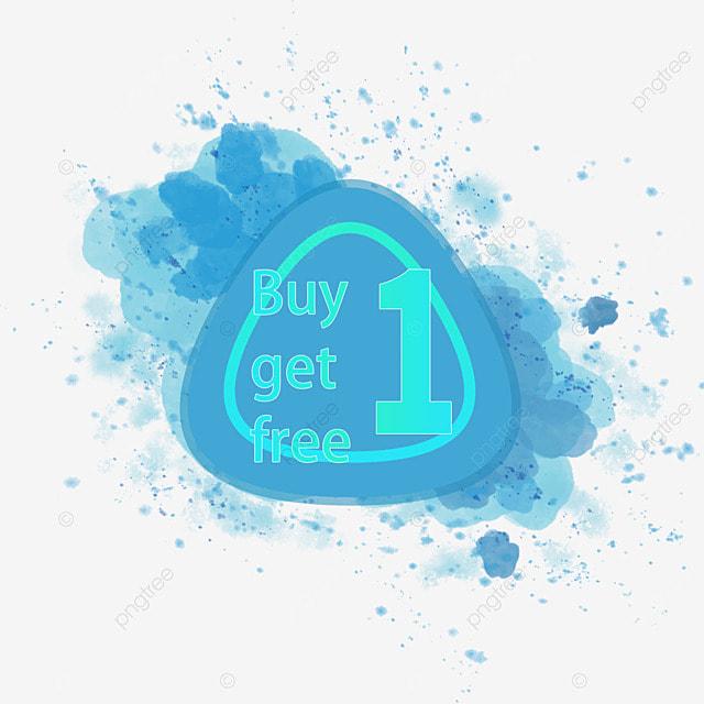 Kad Tangan dicat Membeli 1 Mendapatkan 1 Promosi Tag Percuma PNG dan Vektor