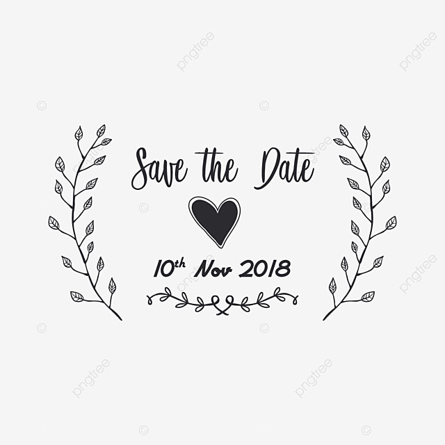 Ornament Save The Date Typography Illustration Ornament