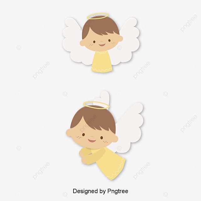 De Dibujos Animados Lindo Angelito Elemento Pintado A Mano Cartoon