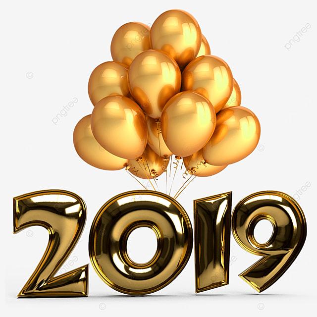 Modern House Theme In 2019: Año Nuevo Texto 2019 Nuevo Año Feliz Archivo PNG Y PSD
