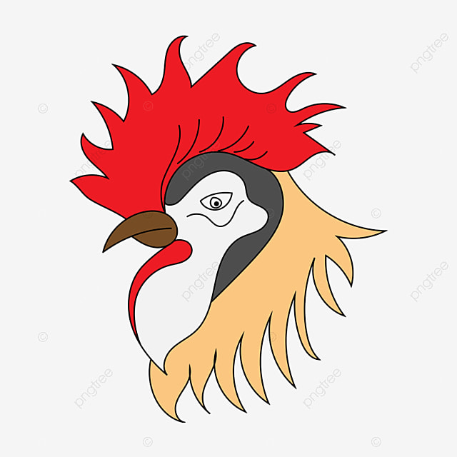 rooster head cartoon - 640×640