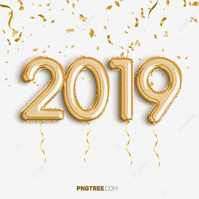 2019 golden ballon ann u00e9e c u00e9l u00e9brer nouvel an bonne ann u00e9e