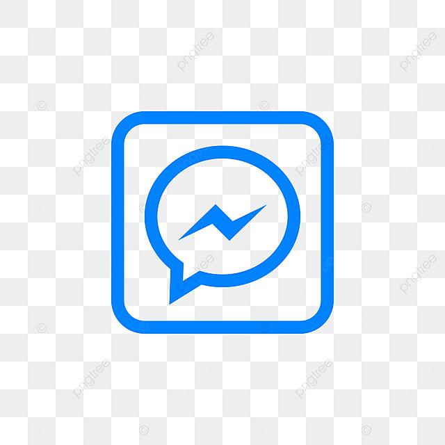 facebookのメッセンジャーソーシャルメディアのアイコンデザイン