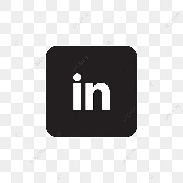 Linkedin Social Media Icon Design Template Vector Black And