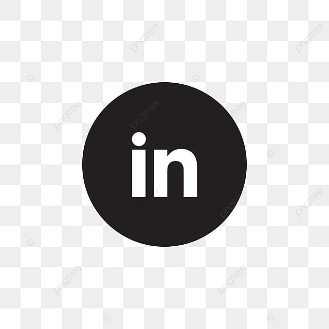 Linkedin Social Media Icon Design Template Vector Black