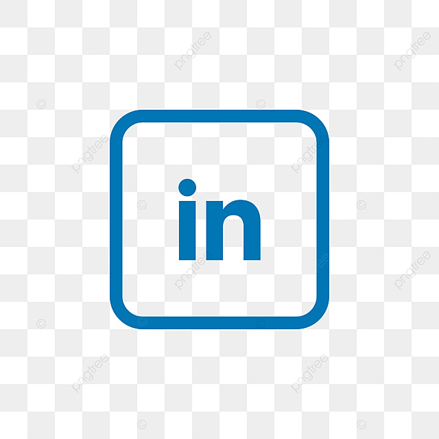 linkedin social media icon design template vector  icon