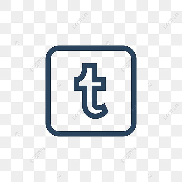 tumblr social media icon design template vector design icon