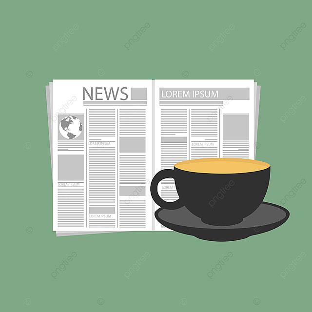 40f200e9d5b café avec le journal pause pause café concept Gratuit PNG et Vecteur
