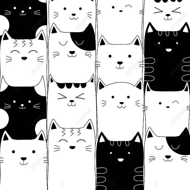 Hình Vẽ Bằng Tay Những Con Mèo Dễ Thương Mèo Vẽ Tay Png Và Vector