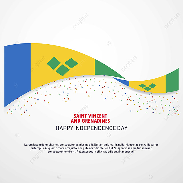 Saint Vincent And Grenadines Happy Independence Day