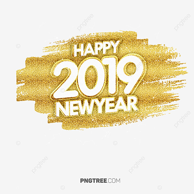 2019 happy newyear golden color new year happy new year - Color for new year 2019 ...