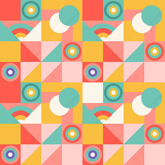 Abstract Geometric Colorful Pattern With Different Shape