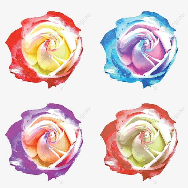 Warna Air Bunga Mawar Abstrak Latar Belakang Menggambar Kontur Png Dan Vektor Dengan Latar Belakang Transparan Untuk Unduh Gratis