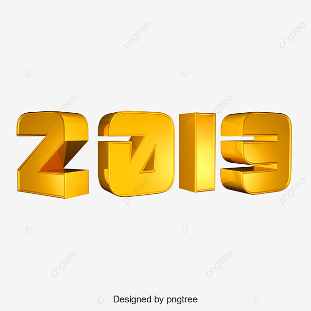 2019 New Year Wallpaper Elements Background Happy PNG And PSD