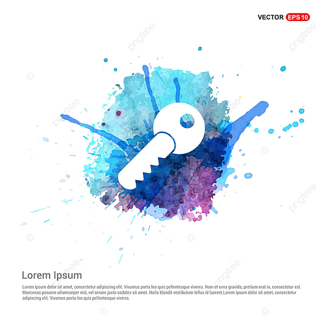 Key Icon - Watercolor Background, Account, Blank, Icon PNG and