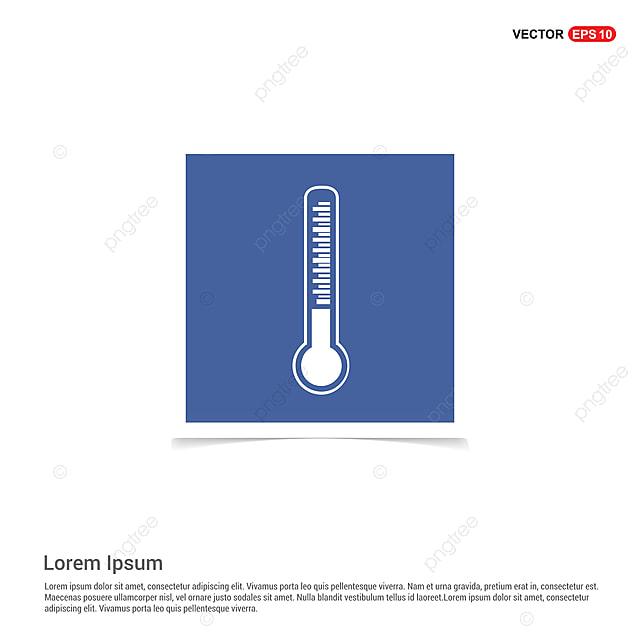 Termometro Icon Blue Photo Frame Precisao Frio Desenho Png E