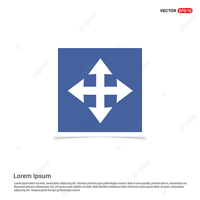 Vector Four Arrows Icon - Blue Photo Frame, 4, App, Application PNG ...