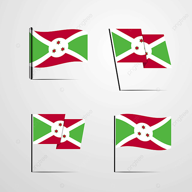 Burundi Waving Flag Set Design Vector Flag Icons 1 1st Png And Vector With Transparent Background For Free Download
